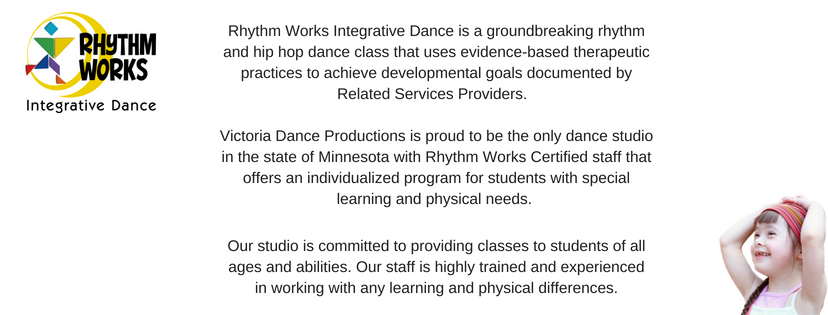 Rhythm Works Integrative Dance is a groundbreaking rhythm and hip hop dance class that uses evidence-based therapeutic practices to achieve developmental goals documented by Related Services P (2)